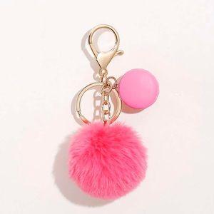 Pink Pom Pom Key Chain
